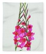 Gladioli Byzantinus In Love Fleece Blanket