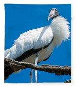 Glamorous Wood Stork Fleece Blanket