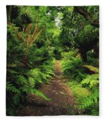 Glanleam, Co Kerry, Ireland Pathway Fleece Blanket