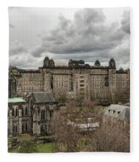 Glasgow Cathedral And Victoria Infirmary Fleece Blanket