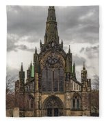 Glasgow Cathedral Front Entrance Fleece Blanket