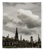 Glasgow Necropolis Graveyard Fleece Blanket