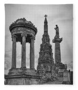 Glasgow Necropolis Graveyard Memorials Fleece Blanket