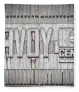 Glasgow Savoy Centre Fleece Blanket