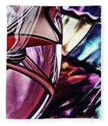 Glass Abstract 523 Fleece Blanket
