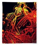 Glass Abstract 623 Fleece Blanket