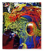 Glass Abstract 630 Fleece Blanket
