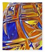 Glass Abstract 768 Fleece Blanket