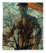 Glass And Branches  Fleece Blanket