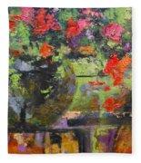Glass And Flowers Fleece Blanket