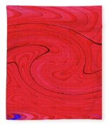 Glass And Steel Building Red Abstract Fleece Blanket