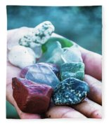 Glass And Stone Fleece Blanket