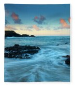 Glass Beach Dawn Fleece Blanket