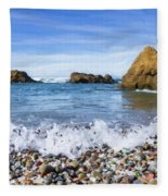 Glass Beach, Fort Bragg California Fleece Blanket