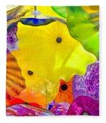Glass Flowers Fleece Blanket
