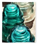 Glass Insulators Fleece Blanket