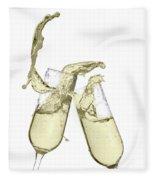 Glasses Of Champagne Fleece Blanket