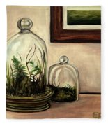 Glass Terrariums Fleece Blanket
