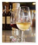 Glasses Of  Port Wine Fleece Blanket