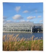 Glasshouse At Rhs Wisley Surrey Uk Fleece Blanket