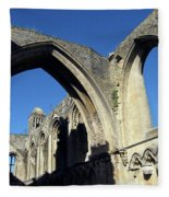 Glastonbur Abbey 2 Fleece Blanket