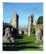 Glastonbury Abbey 1 Fleece Blanket