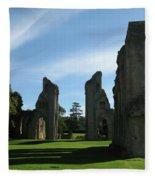 Glastonbury Abbey 3 Fleece Blanket