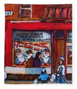 Glatts Kosher Meatmarket And Tailor Shop Fleece Blanket