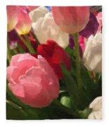 Glazed Tulip Bouquet Fleece Blanket