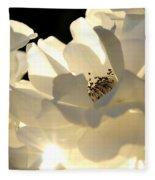 Gleaming White Fleece Blanket