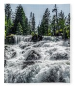 Glen Alpine Falls 7 Fleece Blanket