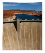 Glen Canyon Dam And Lake Powell Fleece Blanket