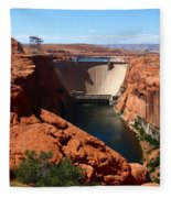 Glen Canyon Dam - Arizona Fleece Blanket