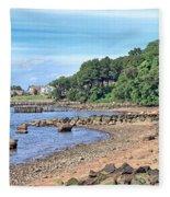 Glen Cove Rocky Beach Fleece Blanket