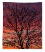 Glen Iris Sunrise Fleece Blanket