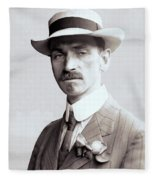Glenn Curtiss - Aviation Pioneer And Father Of Aircraft Industry - 1909 Fleece Blanket