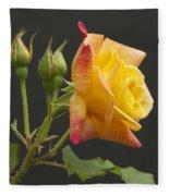Glenn's Rose Fleece Blanket