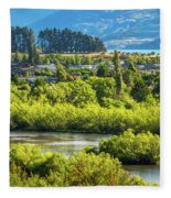 Glenorchy Lagoon At Golden Hour, New Zealand Fleece Blanket