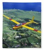 Gliding Over Hana Fleece Blanket