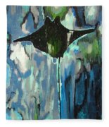 Gliding Stingray Fleece Blanket