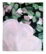 Glimmering Petals Fleece Blanket