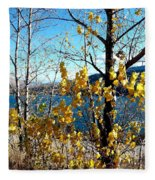 Glimpse Of Kalamalka Lake Fleece Blanket