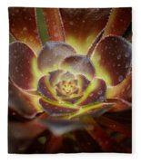 Glistening Glowing Garden Jewel Fleece Blanket
