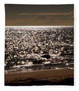 Glistening On The Water Fleece Blanket