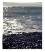 Glistening Rocks And The Ocean Fleece Blanket