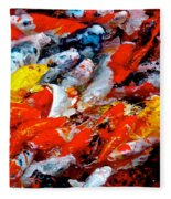 Glittering Of Koi Fleece Blanket