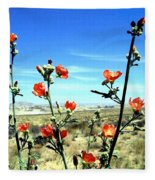 Globe Mallows Fleece Blanket