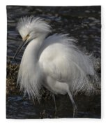 Glorious Egret Fleece Blanket