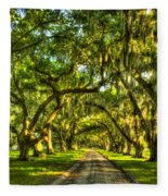 Glorious Entrance Tomotley Plantation South Carolina  Fleece Blanket