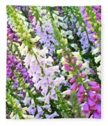 Glorious Foxgloves Fleece Blanket